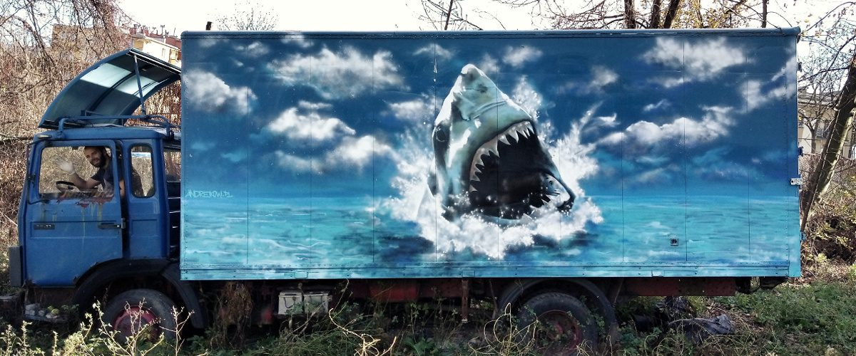 Street art Arkadiusz Andrejkow Sanok Plater 2018