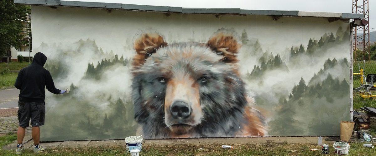 Street art Arkadiusz Andrejkow Sanok2 2018