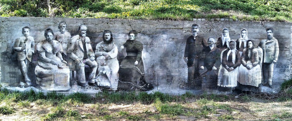 Street art Arkadiusz Andrejkow Sanok 2018